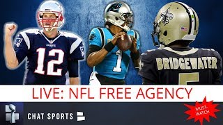 NFL Free Agency: Teddy Bridgewater To Panthers, Cam Newton To Be Traded, Tom Brady Leaving Patriots