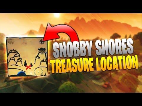 Snobby Shores Treasure Map Location! Fortnite Battle Royale Guide!