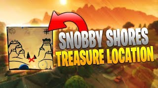 Snobby Shores Treasure Map Location! Fortnite Battle Royale Guide!