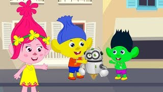 Troll Bebe's Funny Stories Family! Baby give the toy for friend Cartoon For Kids