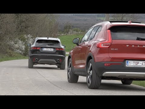 volvo xc40 vs jaguar e pace comparatif youtube. Black Bedroom Furniture Sets. Home Design Ideas