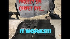Project S14 Ep. 2! - Proper Carpet Restoration and Dying process