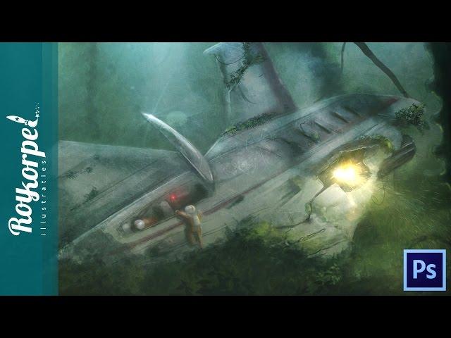 #Photoshop manipulation speedart - Xplane crashed on unknow planet