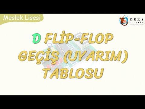 D FLİP-FLOP GEÇİŞ TABLOSU