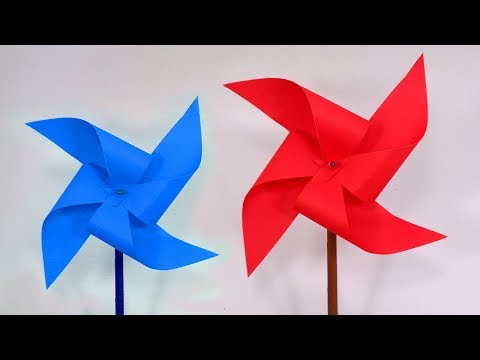 How To Make a Paper Pinwheel That Spin Fast | DIY Paper Windmill Making Video Tutorial