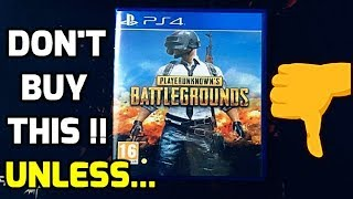 Watch this before buying PUBG PS4 + UNBOXING !!
