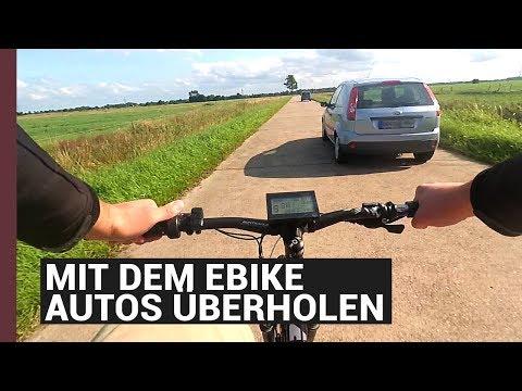 Mit dem ebike Autos überholen auf der Landstraße :) e bike 80 km/h 4,2KW