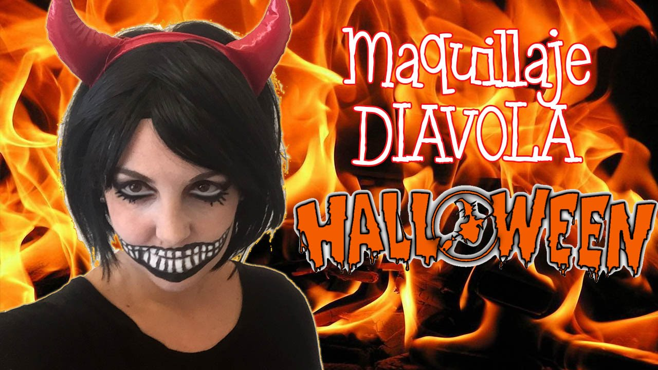 maquillaje de halloween diablesa