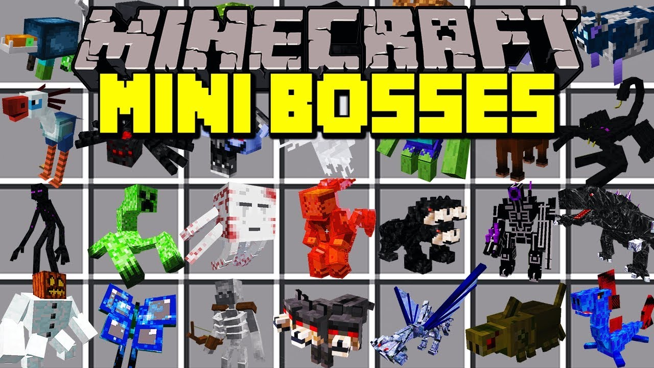 Minecraft MINI BOSSES MOD FIGHT AND SURVIVE OVERPOWERED MINI