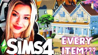 Using EVERY ITEM From A Random Pack to Build in The Sims 4 😅 GIRL VERSUS SIMS 4 BUILD CHALLENGES
