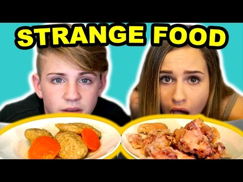 Thumbnail: Trying Strange Foods! GROSS Pig Feet, Mystery Meat & More!