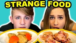 Trying Strange Foods! GROSS Pig Feet, Mystery Meat & More!