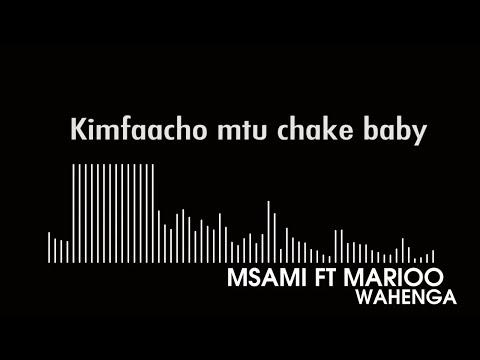 Msami ft  Marioo   Wahenga (Offical Lyric Video)