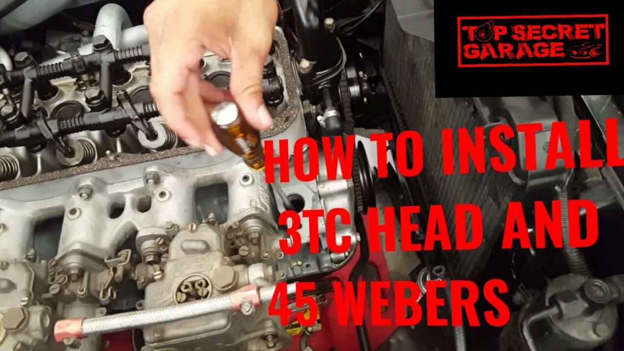 How to install toyota 3tc head and 45 sidedrafts webers