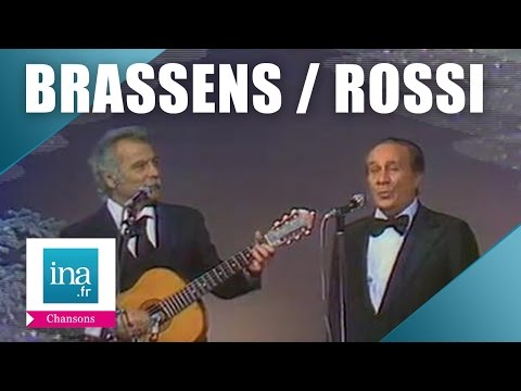 "Tino Rossi et Georges Brassens ""Santa Lucia"" 