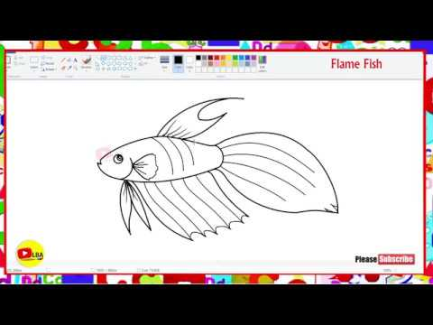 How to draw Flame Fish | LearnByArts