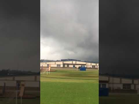 Tornado Forming in West Daviess County Behind Sorgho Elementary School