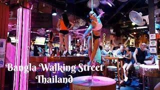Bangla Walking Street, day versus night time, Patong Beach, Thailand