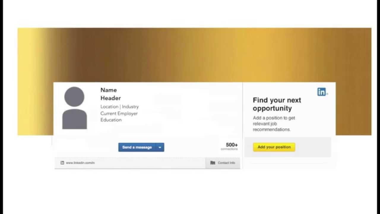 LinkedIn® Profile Sample Hero Header Images - YouTube