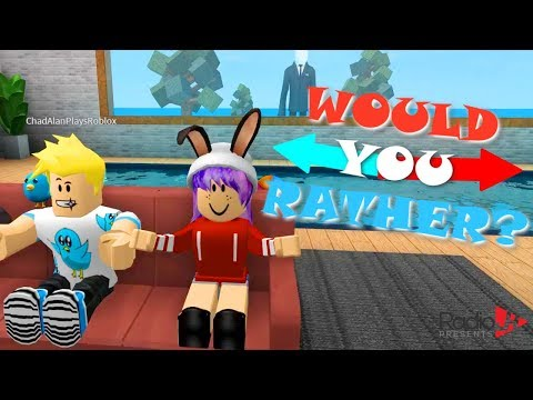 ROBLOX WOULD YOU RATHER? | RADIOJH GAMES & GAMER CHAD