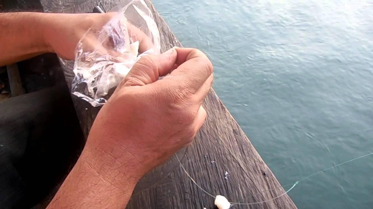 Cara Memasang Umpan Nasi Untuk Mancing Ikan Kiper Baronang Belanak Kuning Youtube