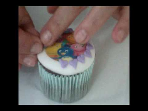 Cupcake backyardigans youtube for Papel de arroz para decorar muebles