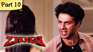 Ziddi (hd) - part 10 of 15 - superhit blockbuster action movie - sunny deol, raveena tandon