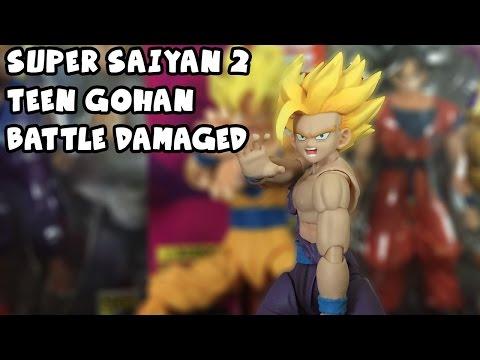 THE BEST Super Saiyan 2 Teen Gohan Figure   SH Figuarts Battle Damaged SSJ2 Gohan Unboxing & Review