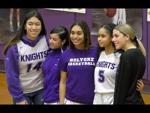 Holyoke High School Girls Basketball Senior Night 2-18-2020