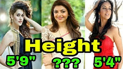 Shocking Height of Top 10 Beautiful South Indian Actresses | Kajal Agarwal | 2017 ||[YES INDIA]