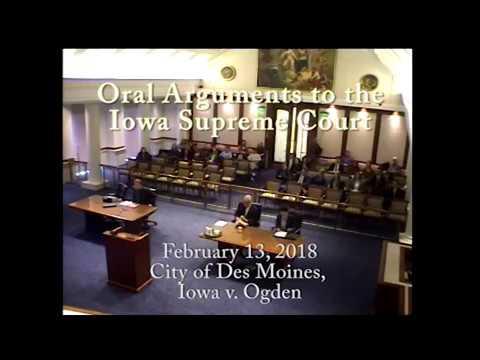 16-1080 City of Des Moines, Iowa v. Mark Ogden, February 13, 2018