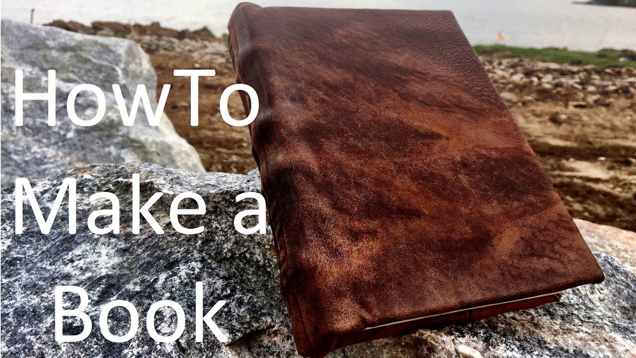 How To Make A Book Journal ~ How to make a book from scratch youtube
