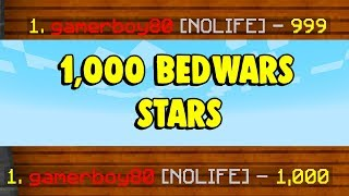 Gamerboy80 got 1000☆ star in BedWars!