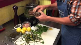 Farm-to-table: Grilled Garlic Scape And Mint Pesto