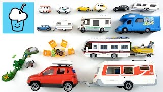 Camper Van and Caravan for kids children with tomica トミカ Lego siku playmobil