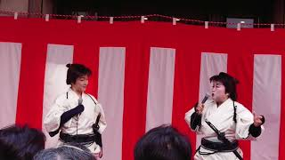 渡辺えりさん、キムラ緑子さんによる舞台挨拶 中々多勢な人でした.