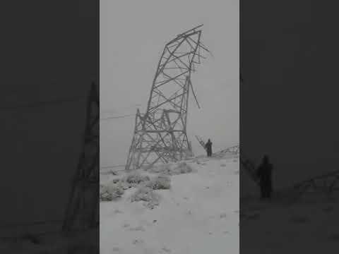 Por el clima, colapsaron 38 torres de alta tensión en Chubut