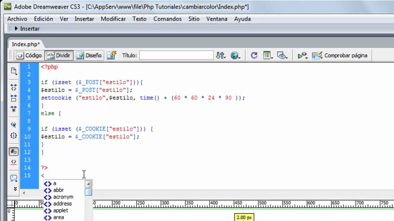 Cambiar Diseño De Pagina [PHP] [CSS] 1/2 - YouTube