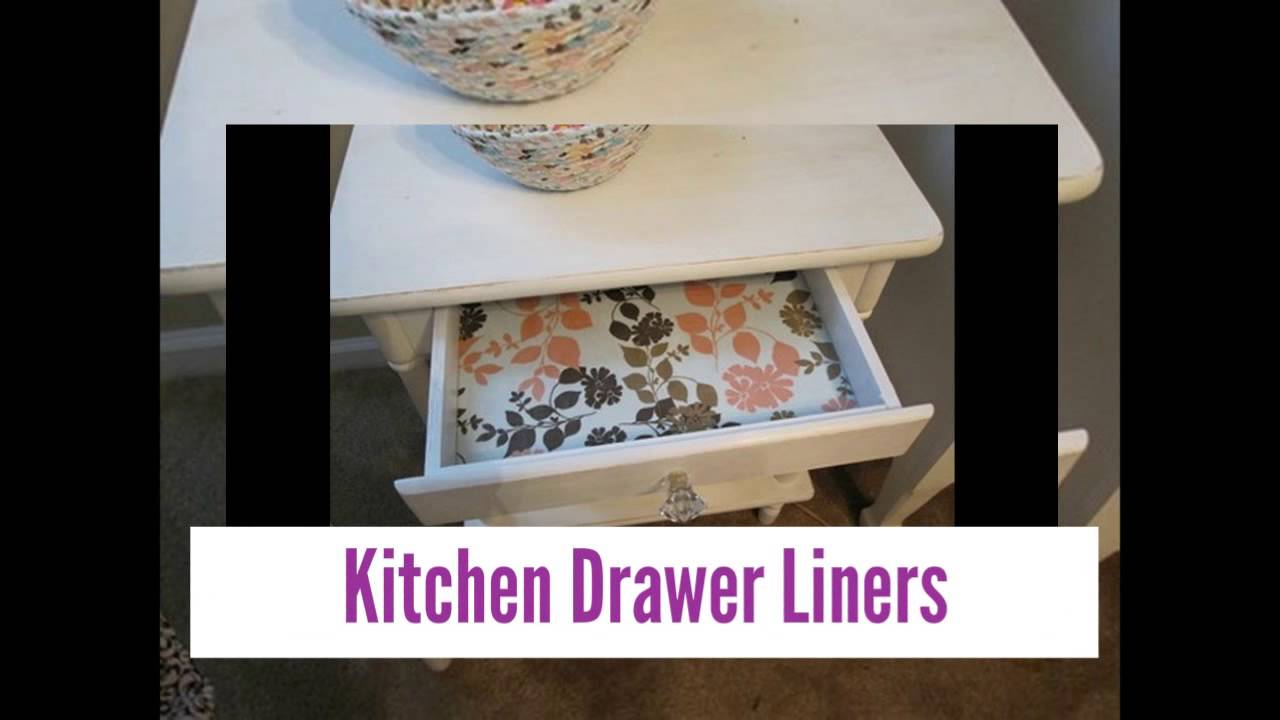 kitchen shelf liners tile floors in papers and drawer youtube