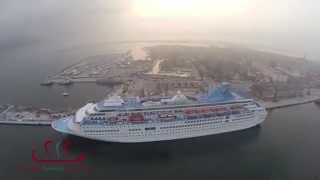 Arrivo al porto di Chioggia della nave Majesty Thomson