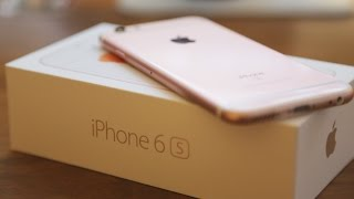 Rose Gold iPhone 6S Unboxing and Setup