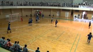 2012全国高校総体ハンドボール 近江兄弟社vs湯沢 3/4