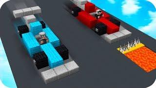 TEHLİKELİ VE TUZAKLI ARABA YARIŞI YAPTIK! 😱 - Minecraft