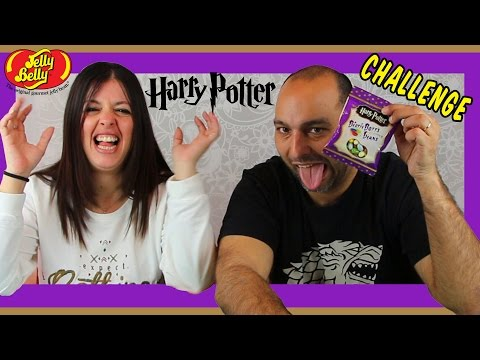 RETO HARRY POTTER GRAGEAS JELLY BEANS BLOOZED!!HARRY POTTER BEAN BOOZLED CHALLENGE