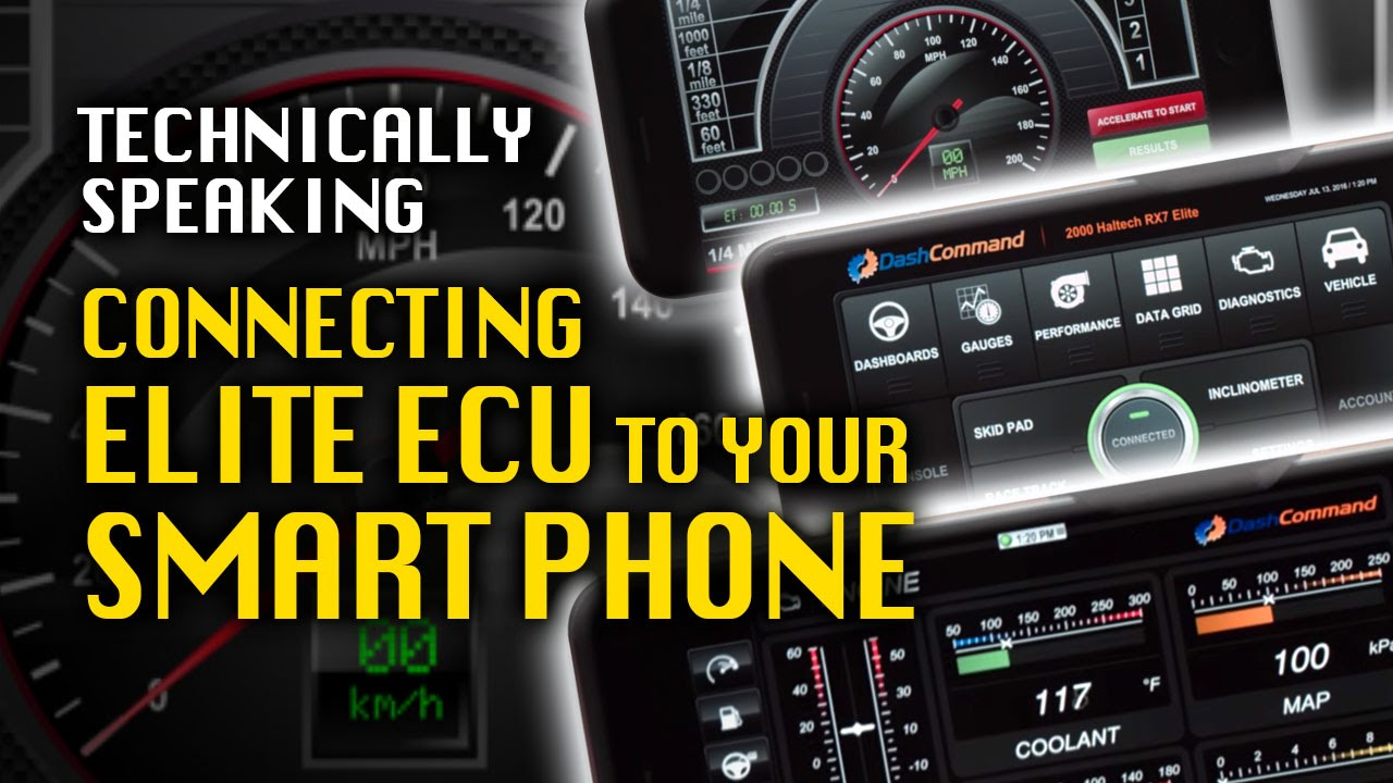 How to use your smart phone with Elite Series ECU - Haltech DIY
