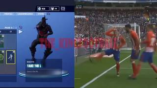 griezmann celebration fortnite vs real madrid Celebration