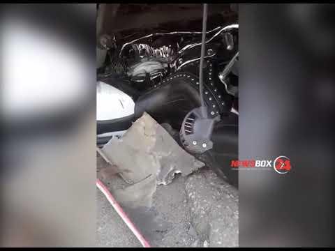Водитель мотоцикла оказался зажат под автобусом, в результате ДТП в Партизанске