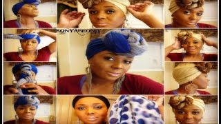 Easy Step By Step Unique And Fabulous Head Scarves Designs } Quick And Easy To Do!!
