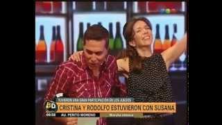 """Rodolfo Barili y Cristina Pérez con Susana en """"Mi hombre puede"""" - Telefe Noticias"""