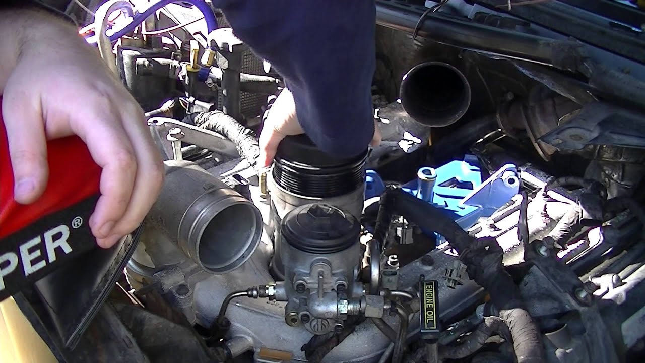 howto installing oil fuel filter housings in ford f250 6 0l powerstroke [ 1280 x 720 Pixel ]